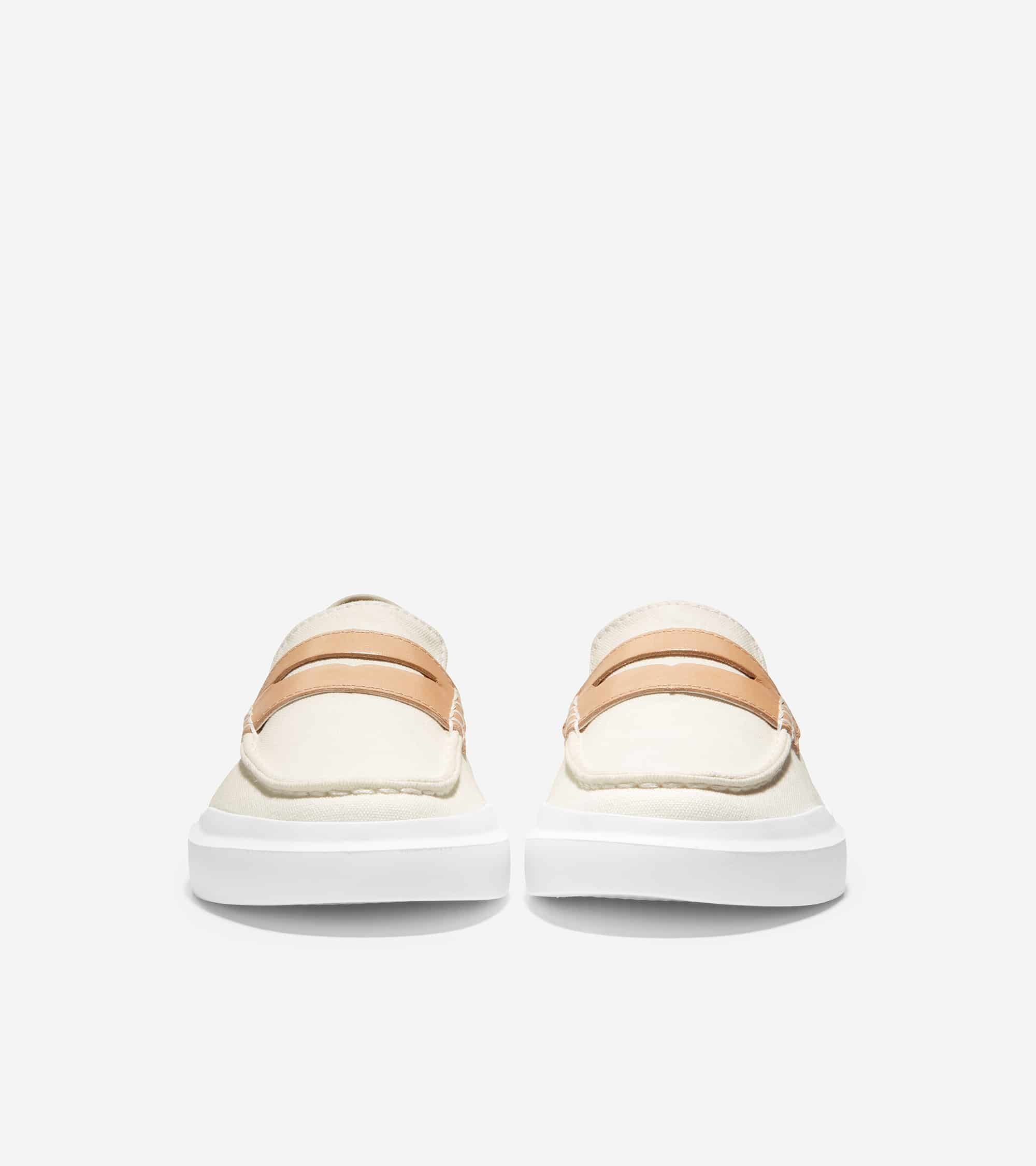 GRANDPRO RALLY CANVAS PENNY LOAFER IVORY CANVAS/CH NATURAL