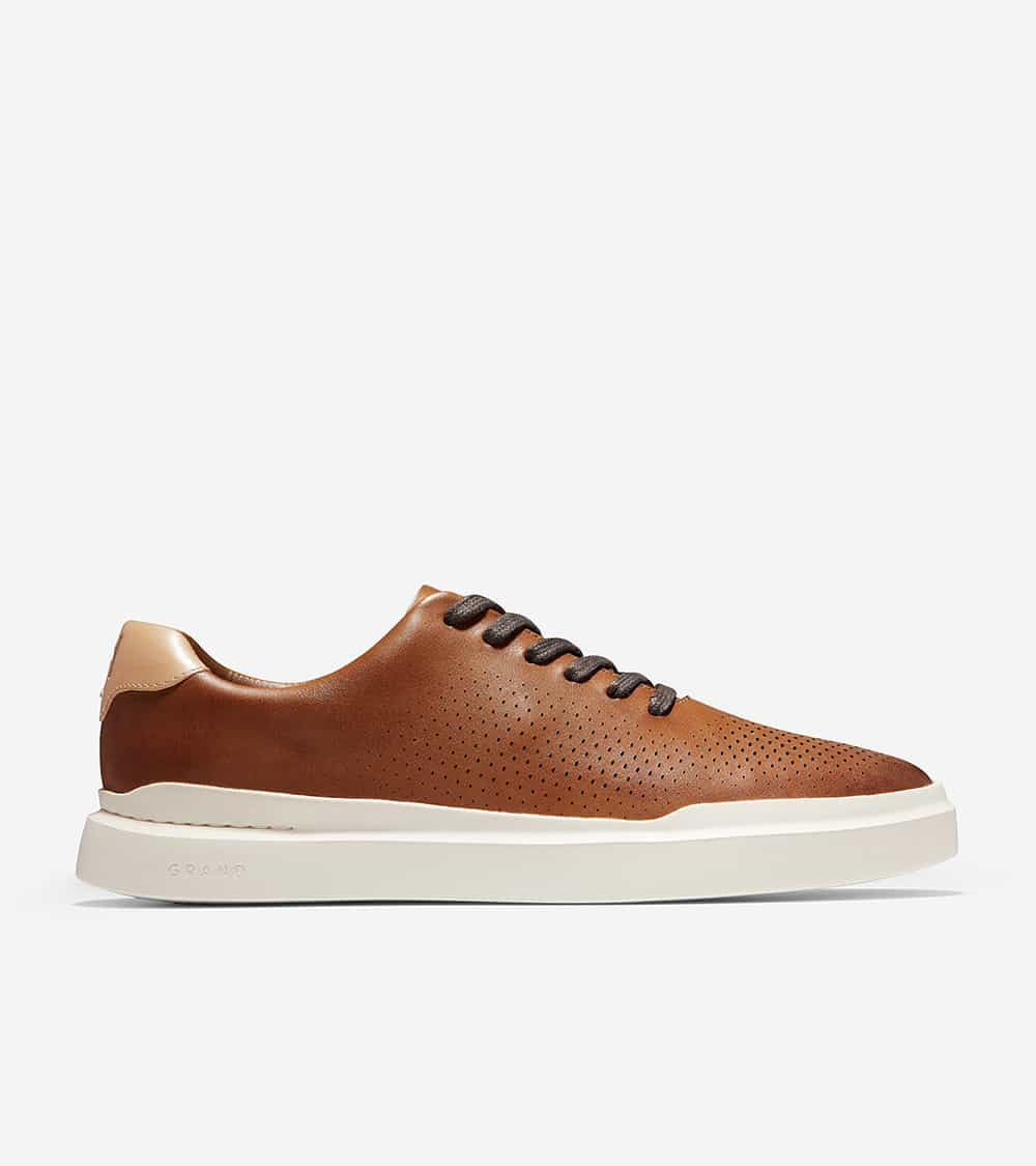 Cole Haan GrandPrø Rally Laser Cut Sneaker British Tan / Ivory