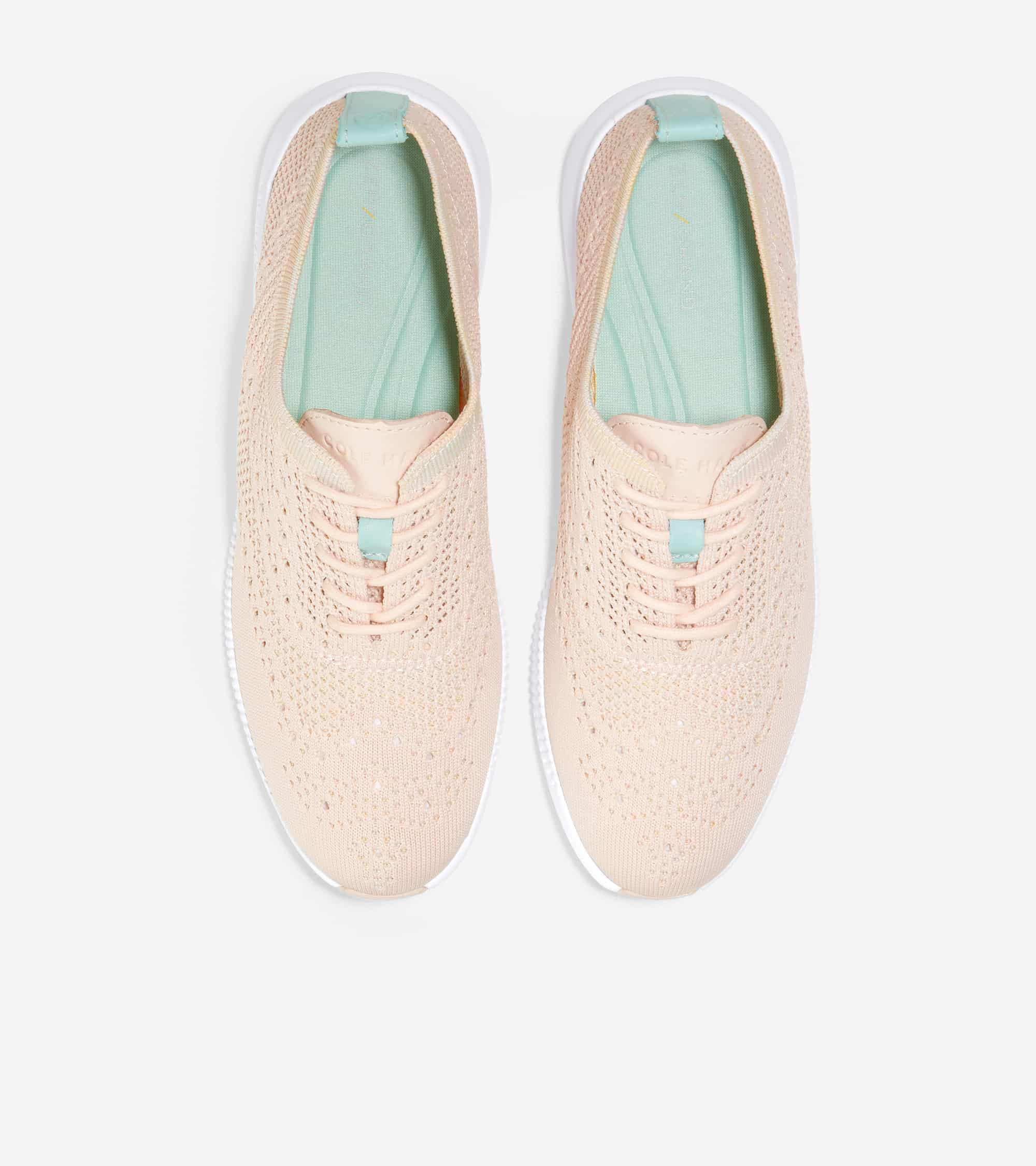 Cole Haan 2.ZERØGRAND Stitchlite Oxford Clay Pink & Multi Ombre / Blue Tint Patent / Optic White Midsole / Clay Pink Rbr Pods