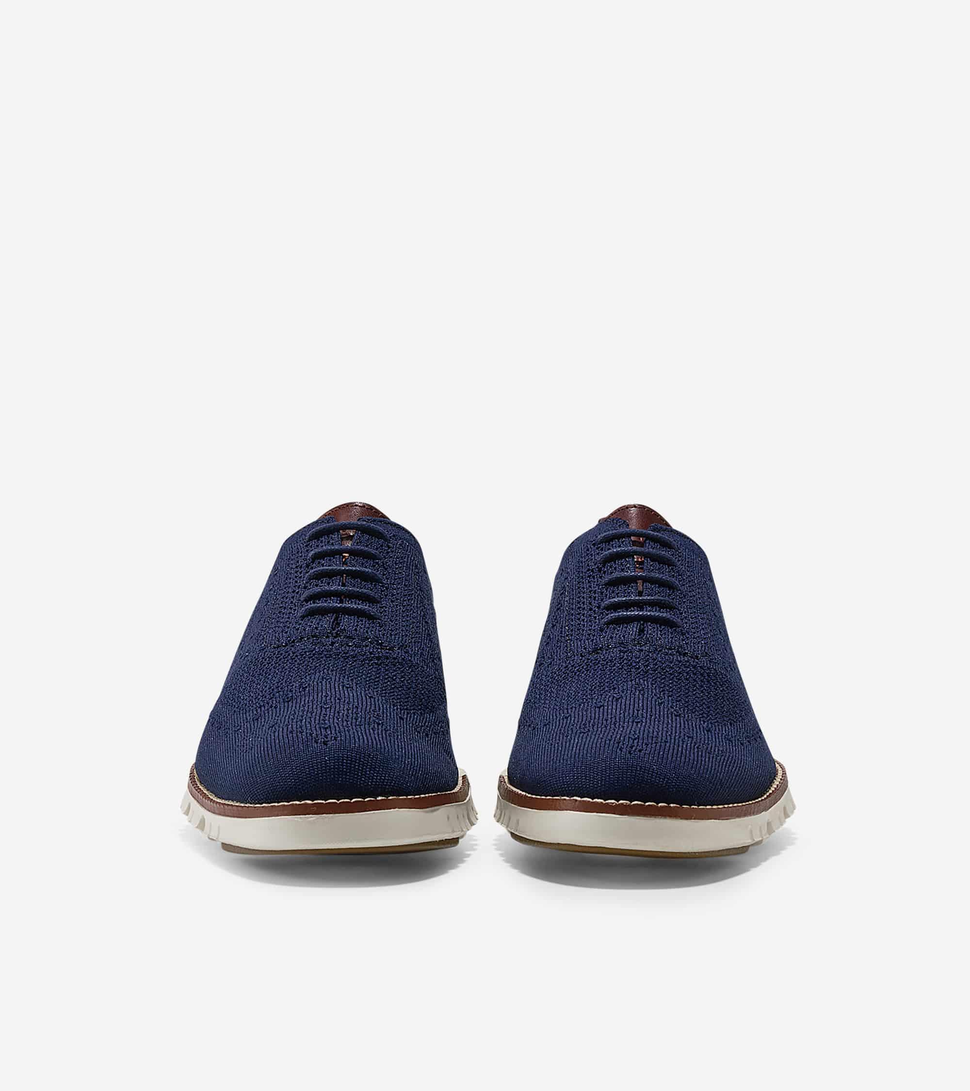 Cole Haan ZERØGRAND Stitchlite Oxford Marine Blue Knit/Ivory