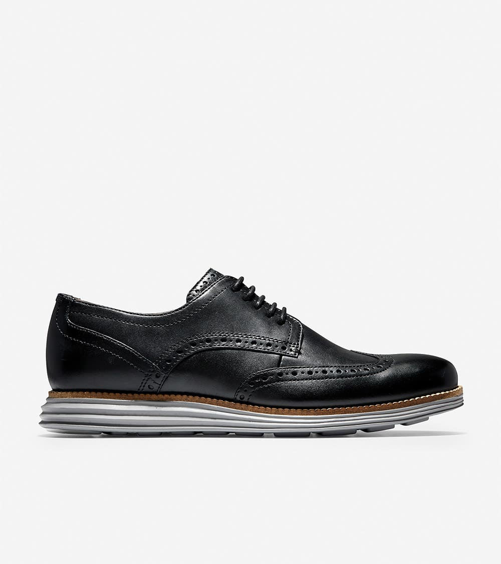 Cole Haan ØriginalGrand Wingtip Oxford Black Leather/Ironstone