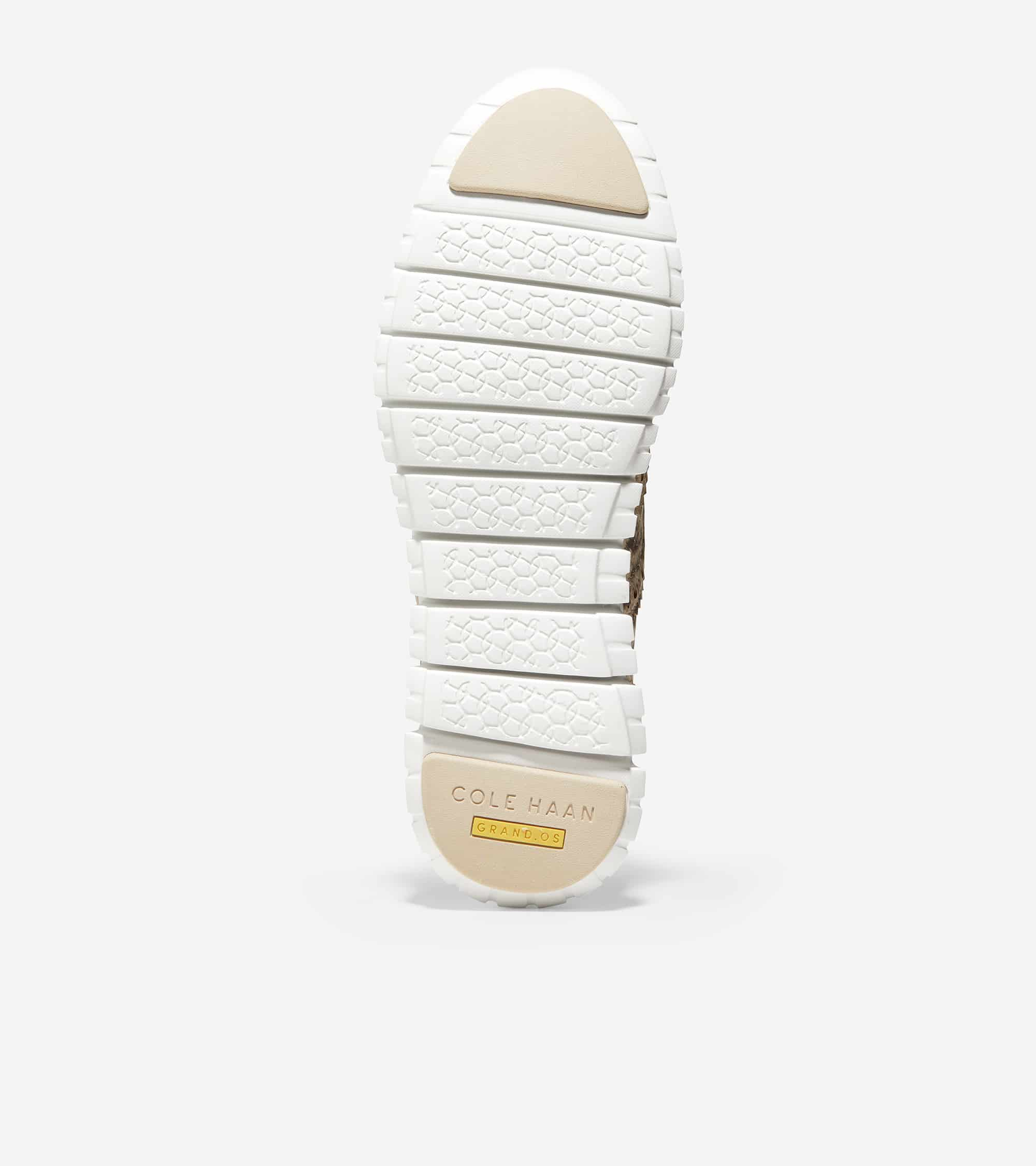 Cole Haan ZERØGRAND Wing Ox Closed Hole Ii Python Printed Leather / Cement Leather / Optic White Midsole / Cement Rubber Pods