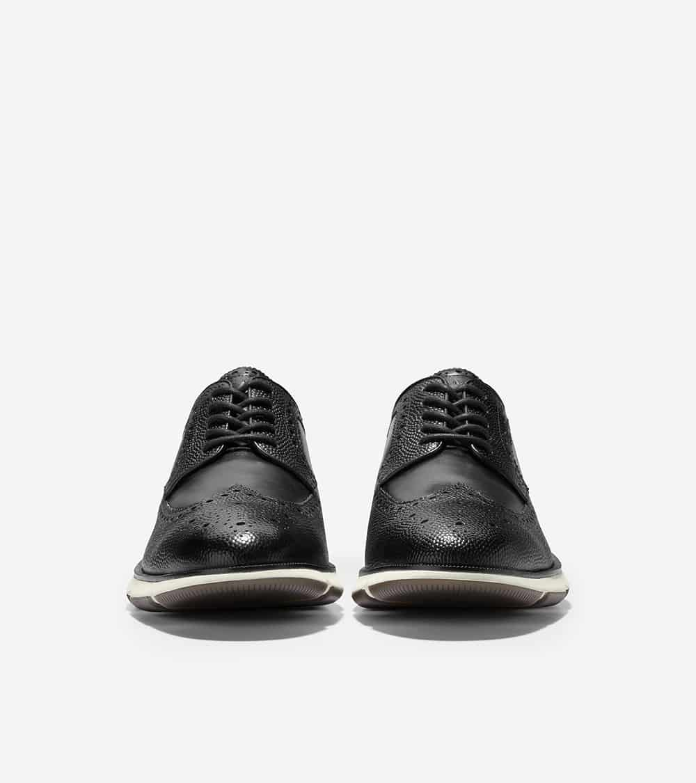 Cole Haan 4.ZERØGRAND Longwing Oxford Black Pebbled