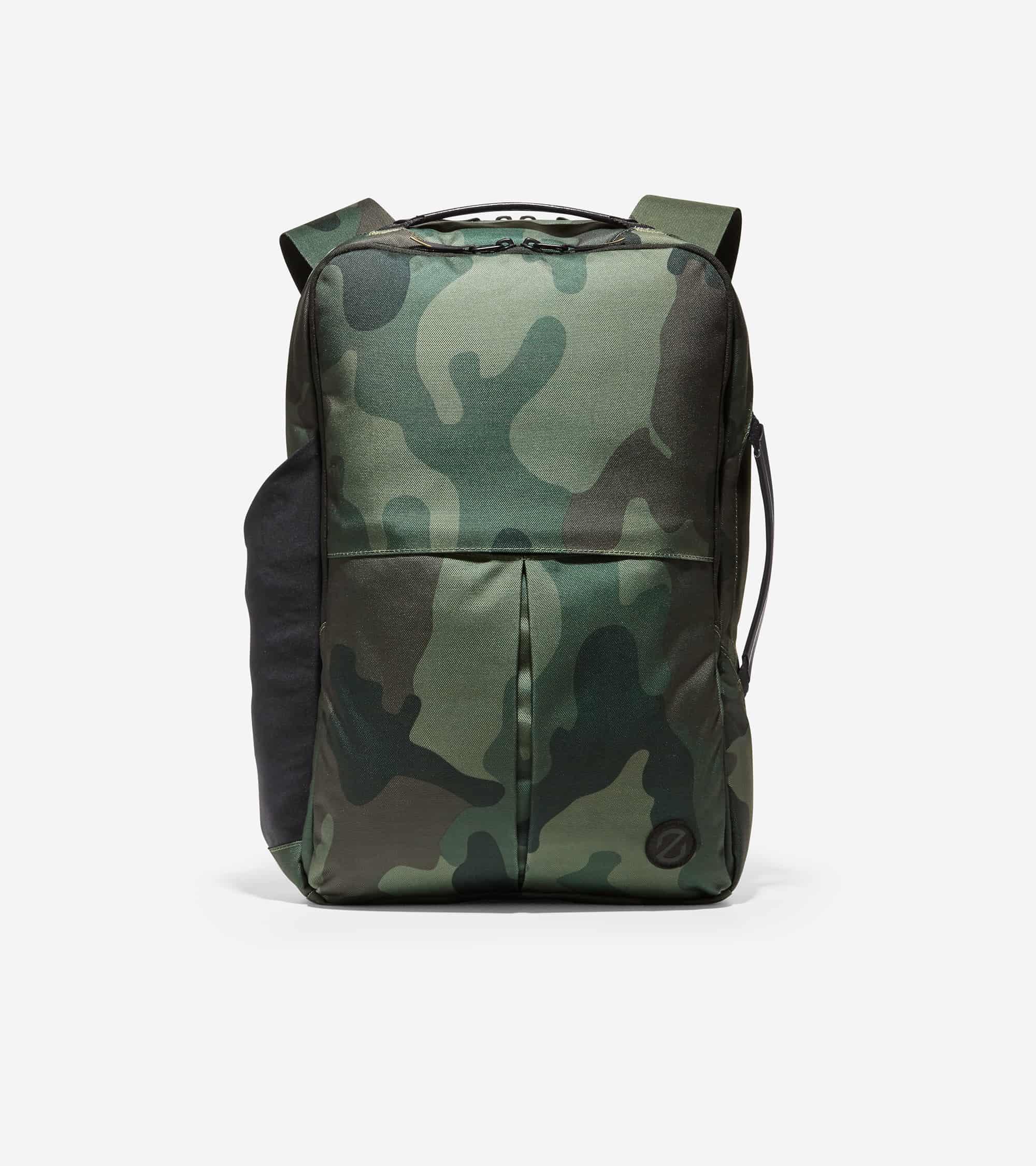 Cole Haan ZERØGRAND Slim Convertible Backpack Black Olive Camo