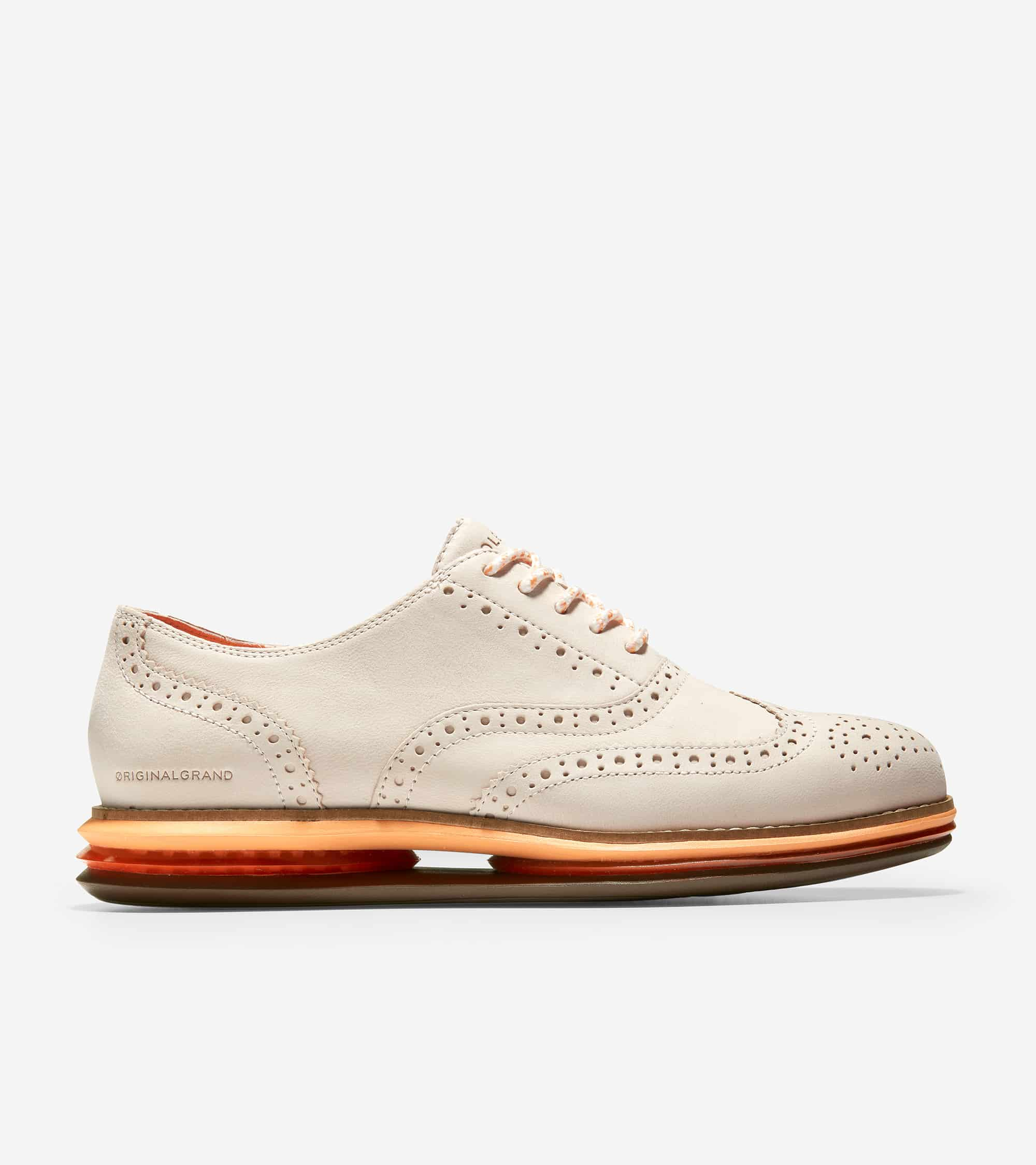 Cole Haan Øriginalgrand Cloudfeel Energy Twin Oxford Ivory Nubuck/ Pumpkin/ Vibrant Orange Gel/ Ch Umbria