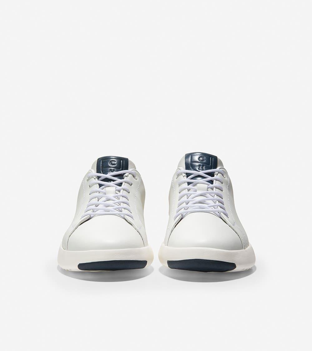 Cole Haan GrandPrø Tennis Sneaker White / Navy Ink