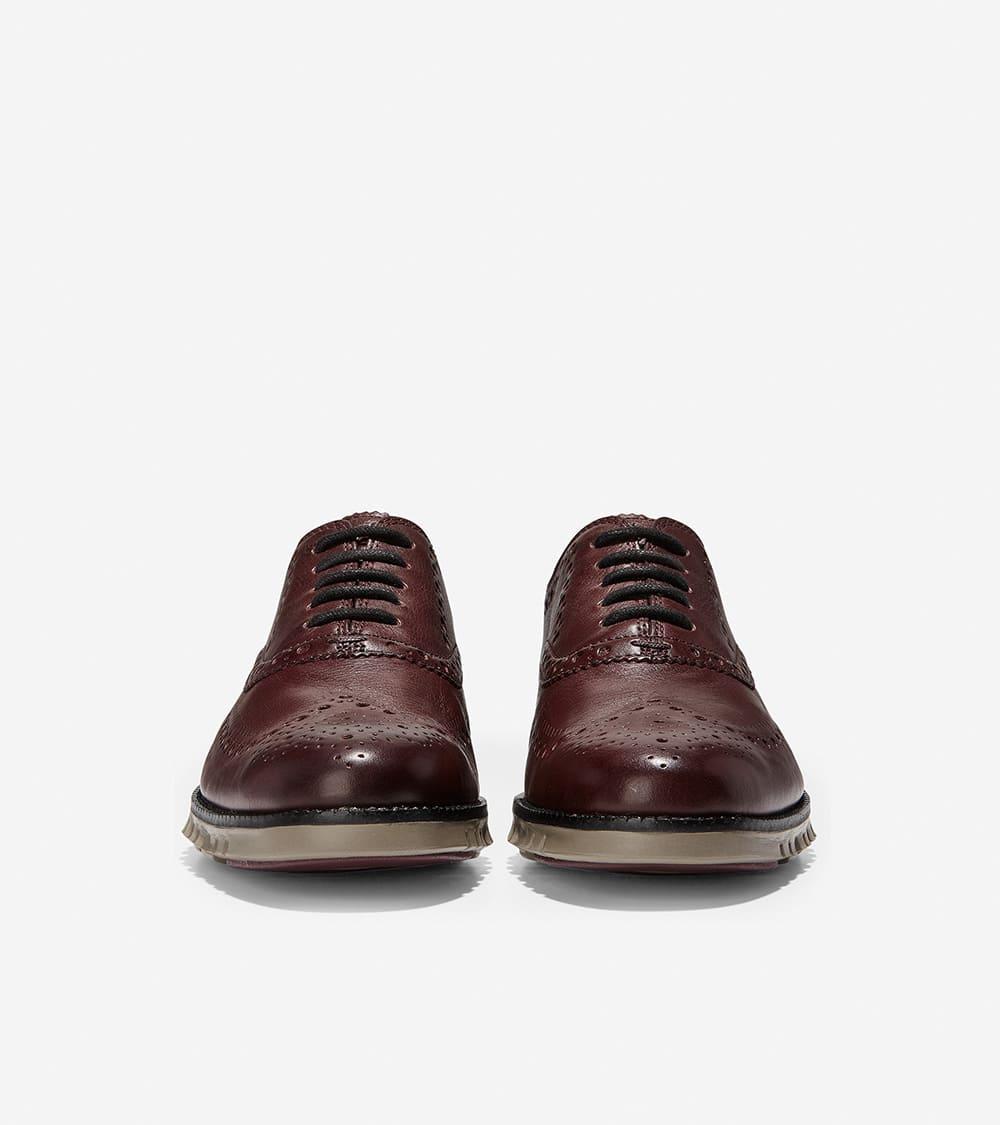 Cole Haan ZERØGRAND Wingtip Oxford Burnished Wine Leather/Walnut