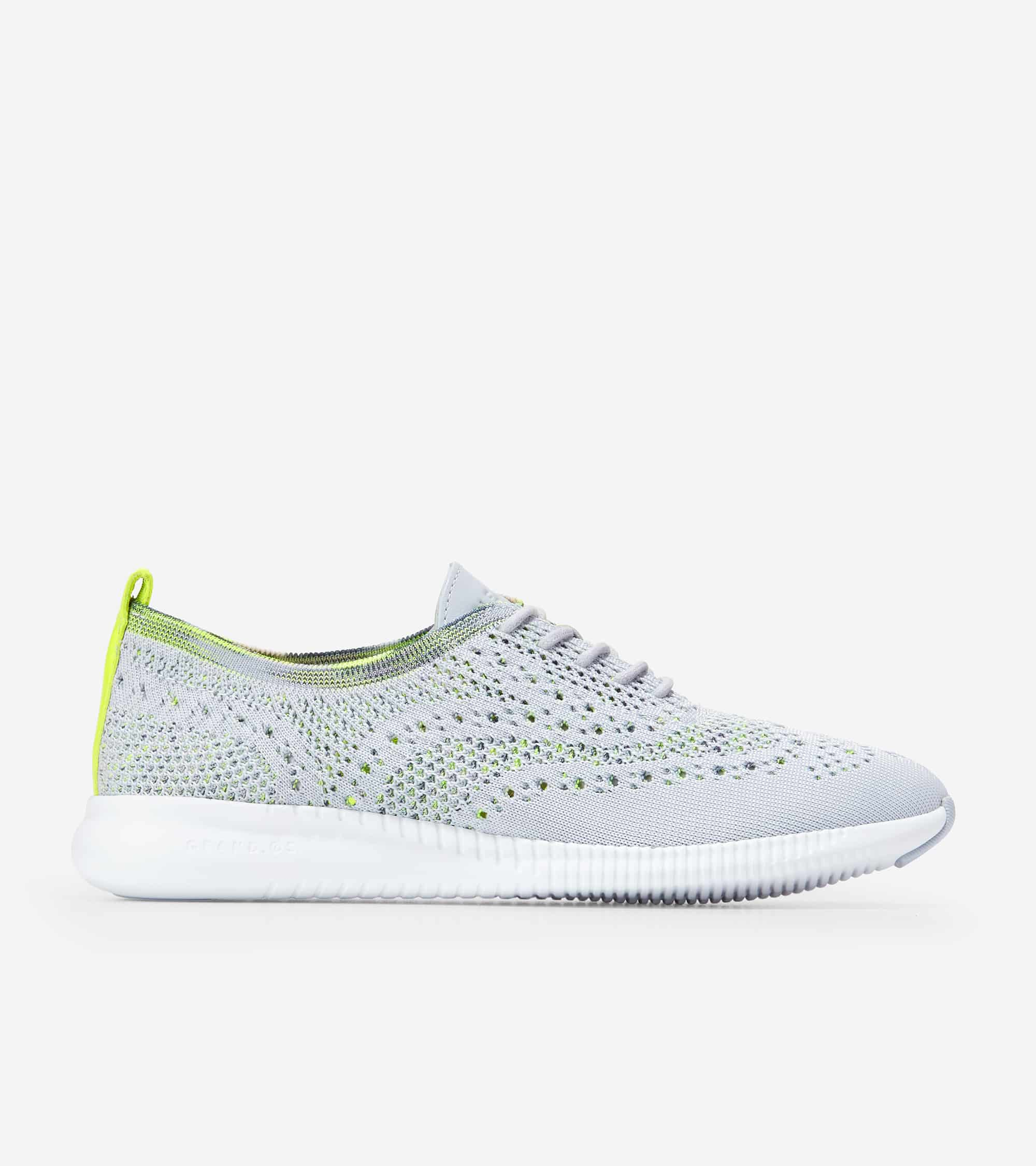 Cole Haan ZERØGRAND Stitchlite Oxford Arctic Ice & Multi Ombre / Safety Yellow Patent / Optic White Midsole / Arctic Ice Rbr Pods