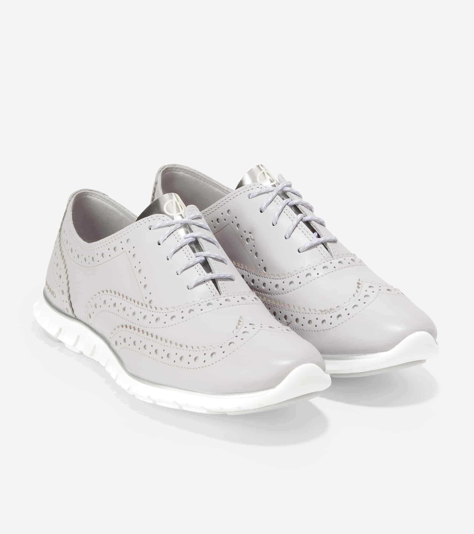 ZEROGRAND WING OX CLOSED HOLE II COOL GRAY LTHR / CH ARGENTO / OPTIC WHITE MIDSOLE / COOL GRAY RUBBER PODS