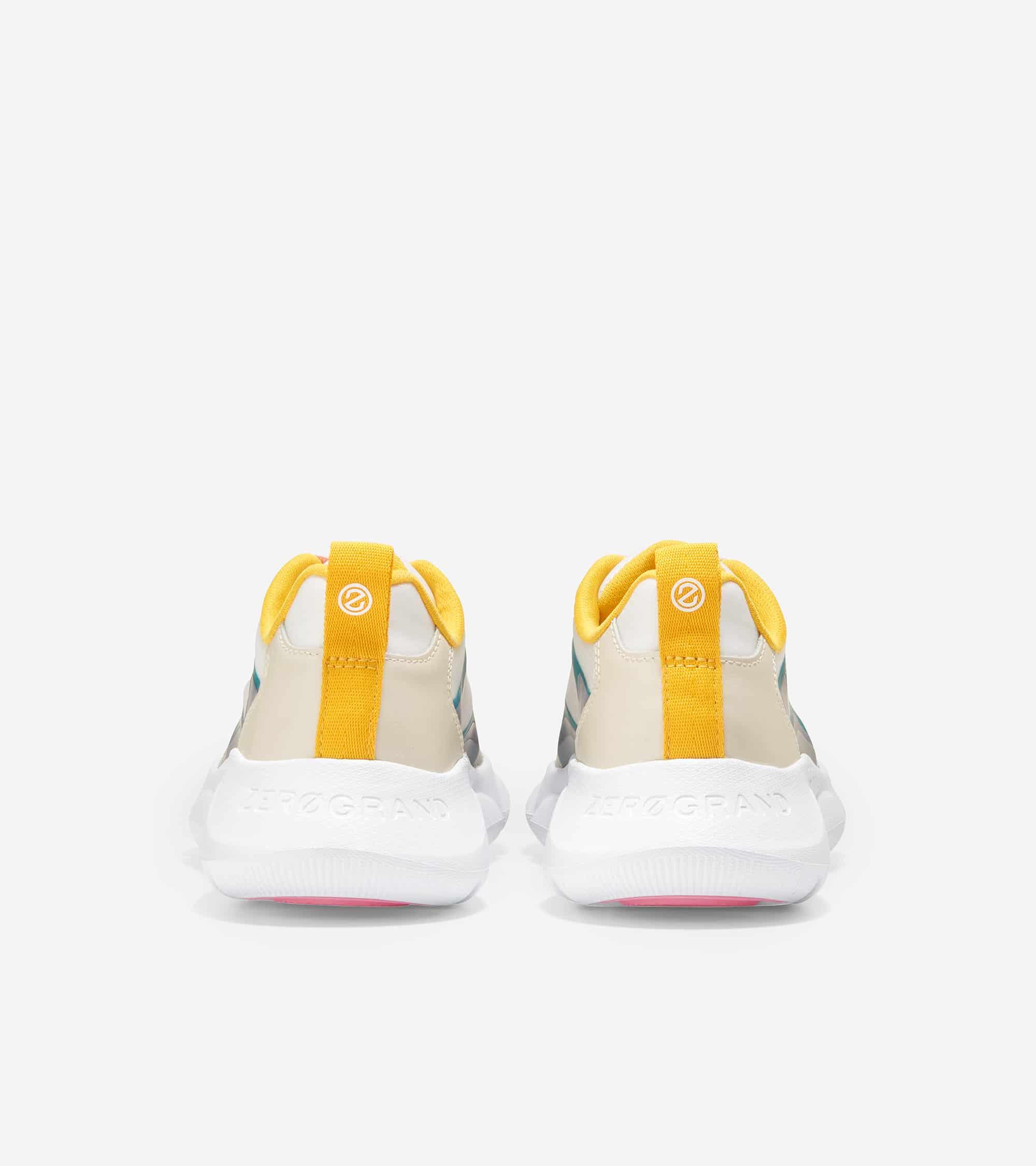 Cole Haan ZERØGRAND Radiant Sneaker White Cap/Tropical Pink/ Deep Lake Tpu/ Whitecap & White Leather/ Golden Rod/ Optic White