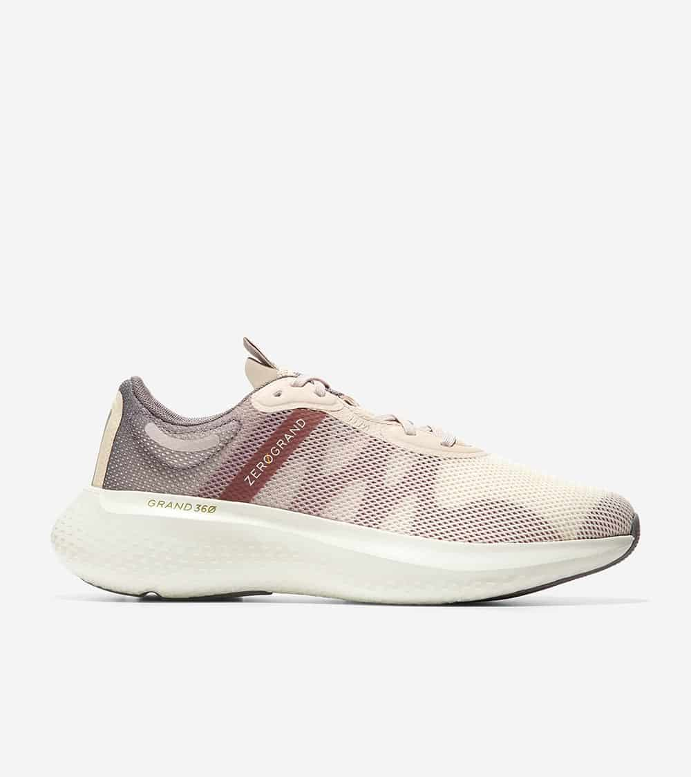ZEROGRAND OUTPACE RUNNER II CHRCLGRY & IVRY GRAD MESH/NW ROSE MIDCAGE/CHRCLGRY HL/IVRY MS W/RSE SPECK/GRY OS