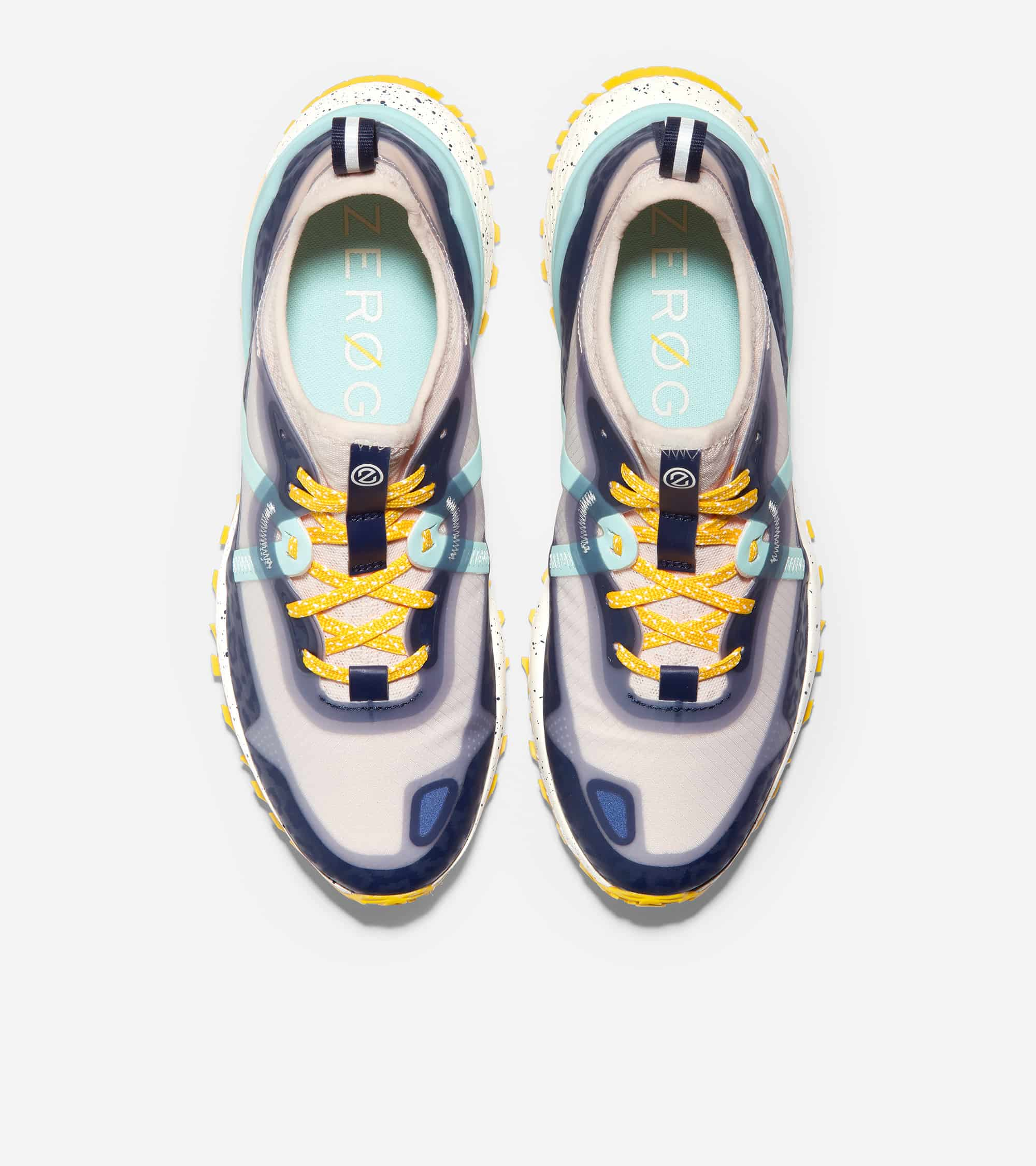 Cole Haan ZERØGRAND Overtake All Terrain Wr Marine Blue Emboss Wr/ Blue Tint/ Golden Rod/ Ivory With Marine Blue Speckles
