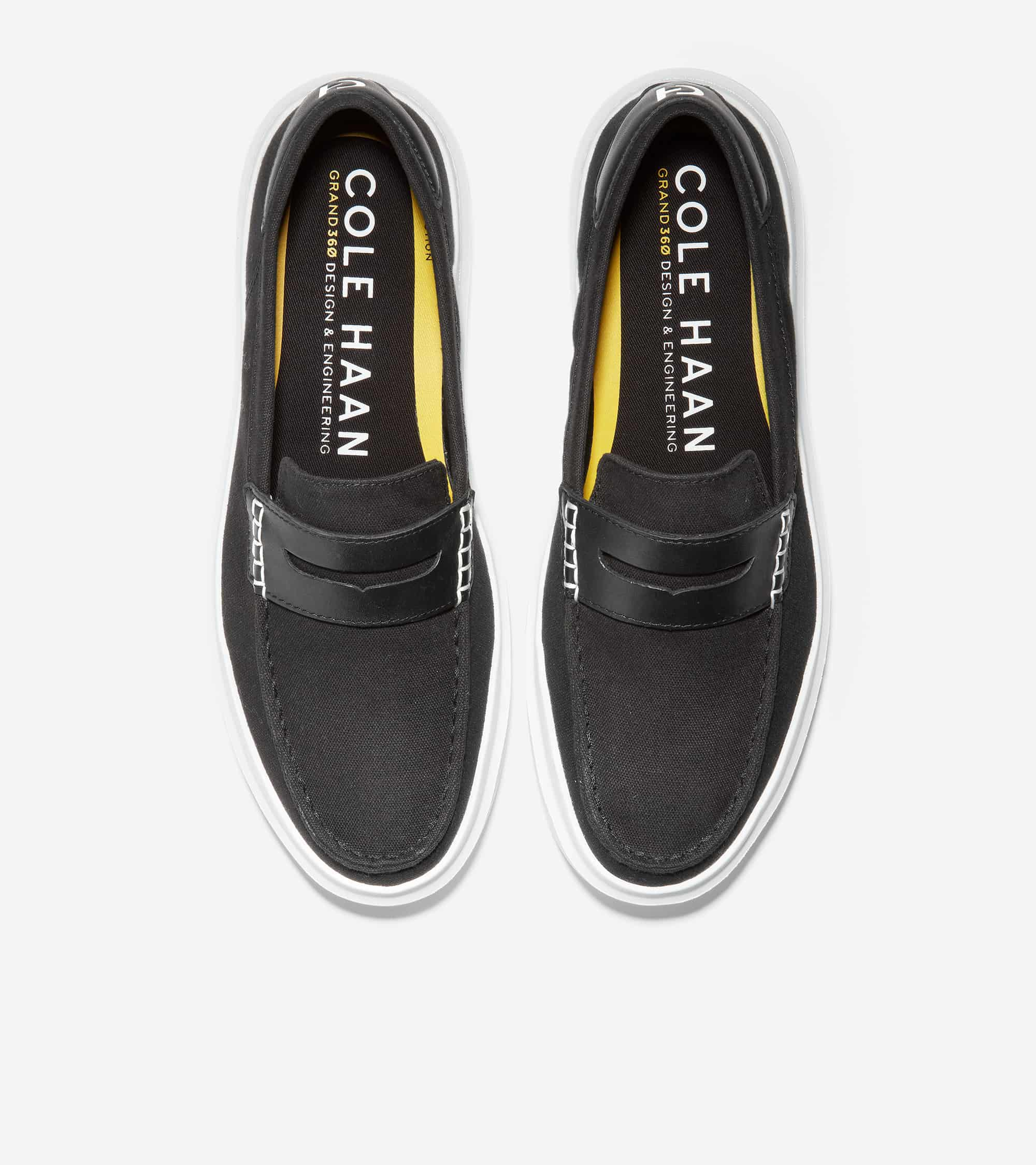 GRANDPRO RALLY CANVAS PENNY LOAFER BLACK CANVAS/OPTIC WHITE