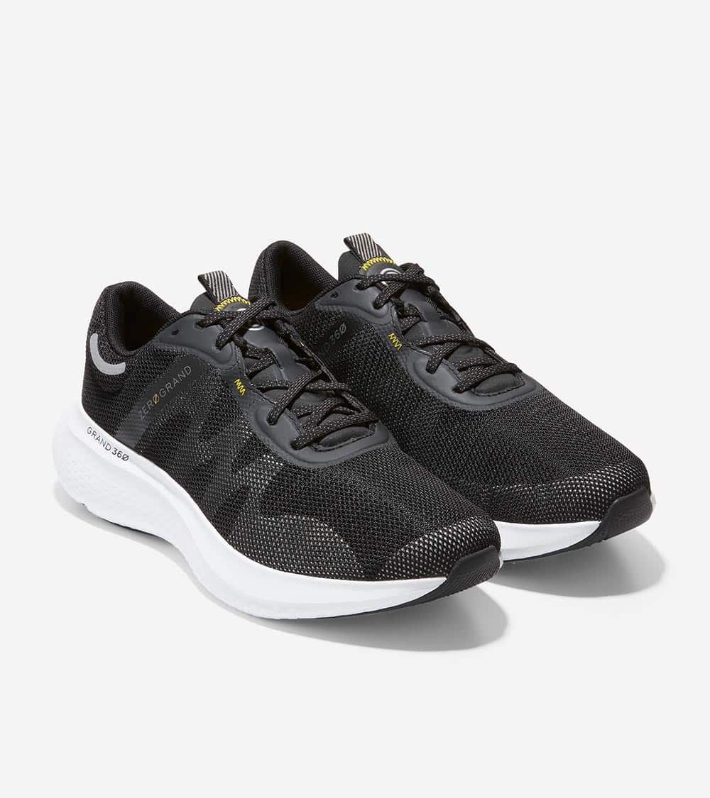Cole Haan ZERØGRAND Outpace 2 Running Shoe Black-Optic White