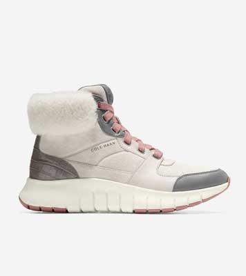Cole Haan ZERØGRAND Flex Wr Sneaker Boot Birch/Ivry/Rose Fur