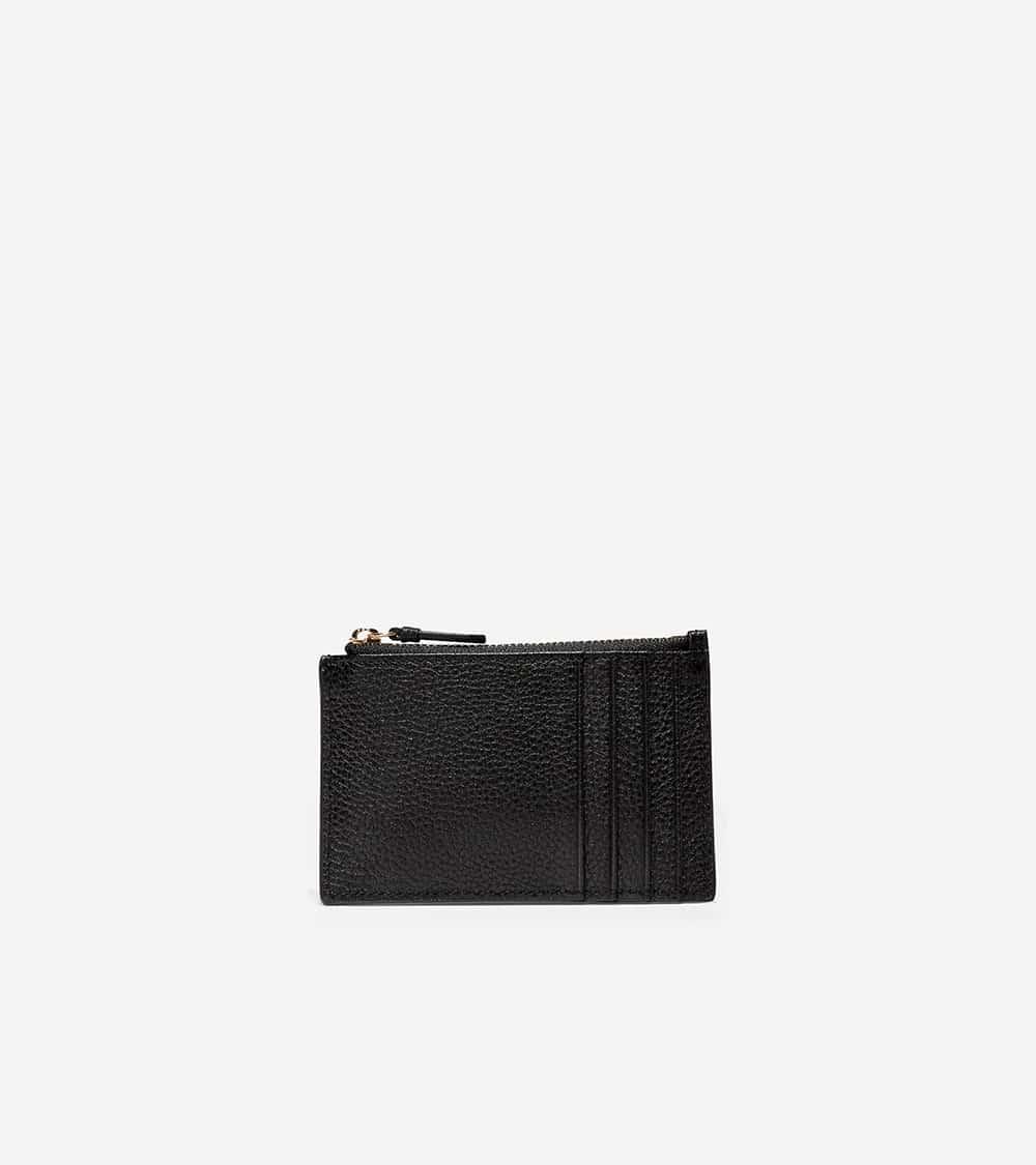 Cole Haan Card Case Zip Black