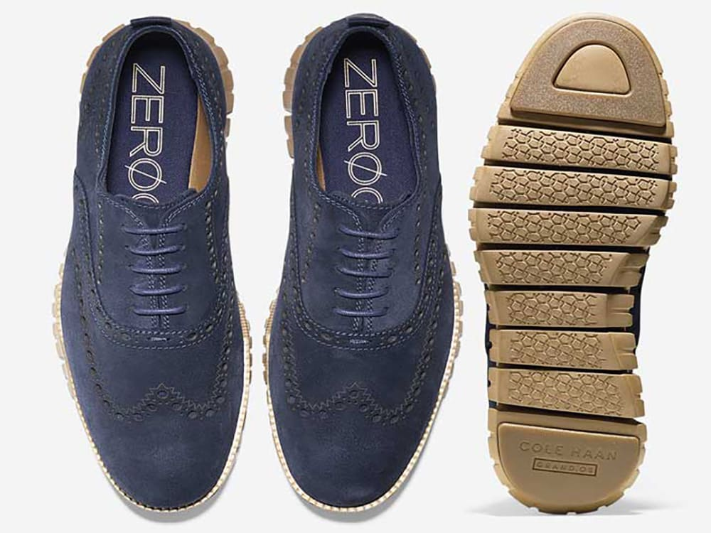 ZEROGRAND OX EXCL CLOSED II GULF SUEDE/RUBBER