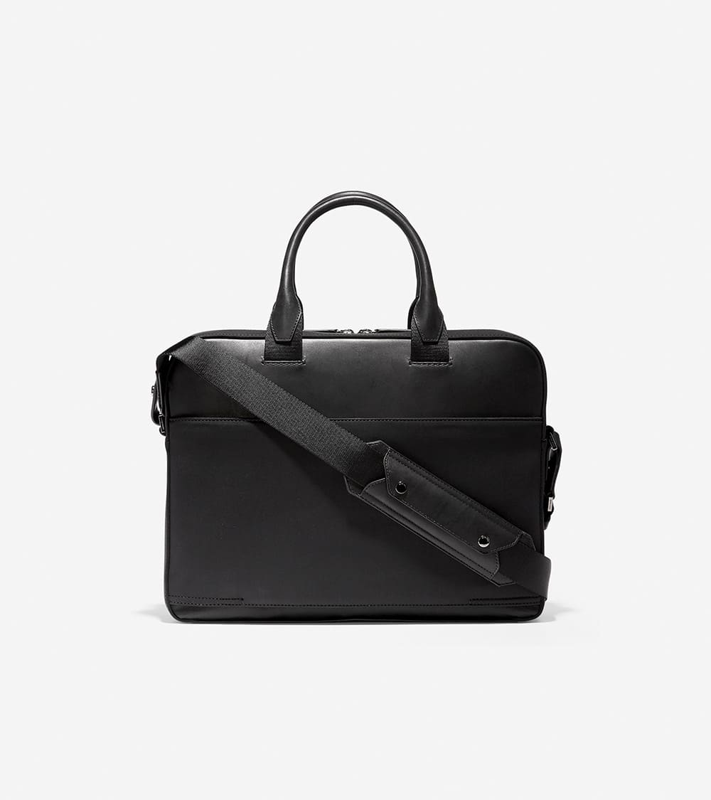 Cole haan Nylon Leather Attacge Black