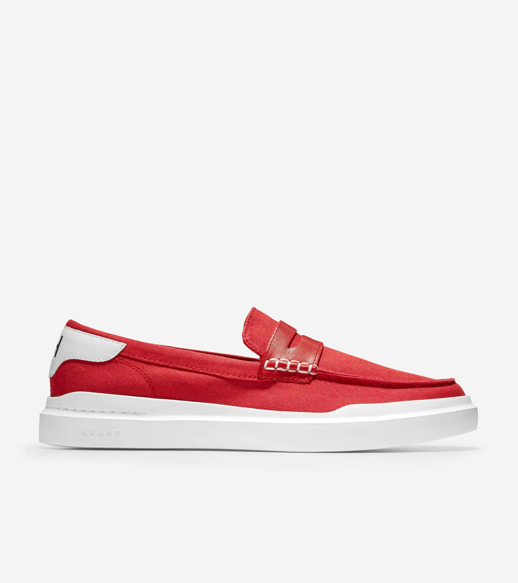 GRANDPRO RALLY CANVAS PENNY LOAFER TANGO RED CANVAS/OPTIC WHITE