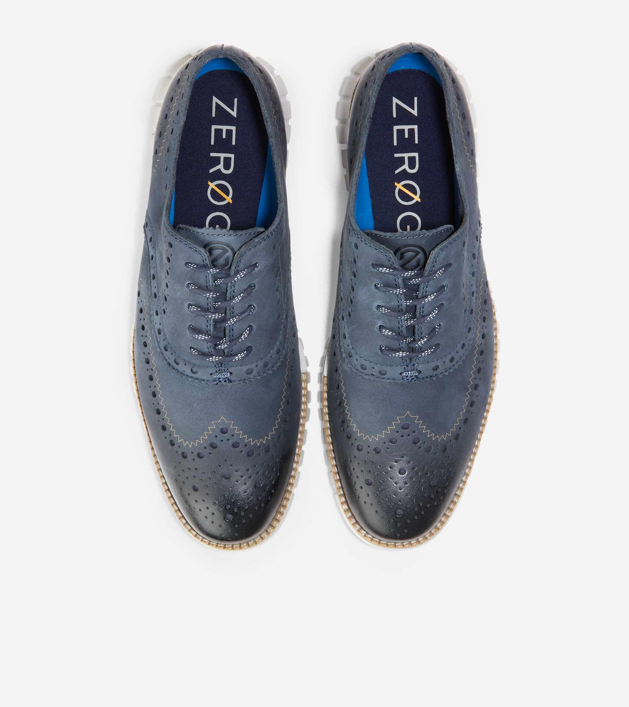 ZEROGRAND WINGTIP OXFORD OMBRE BLUE NUBUCK/COOL GRAY