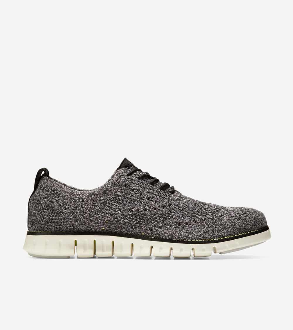 Cole Haan ZERØGRAND Stitchlite Oxford Black Twisted Knit/Safety Yellow