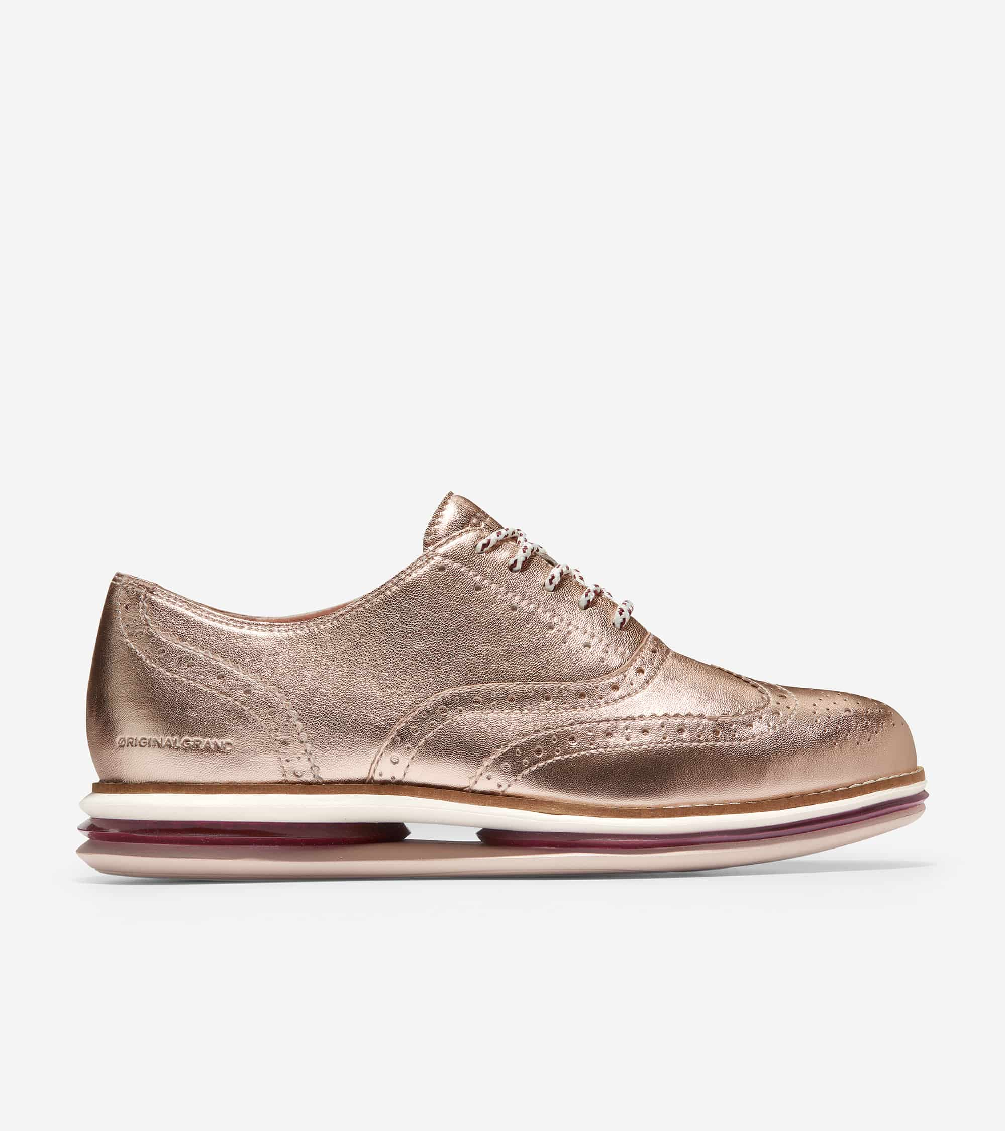 Cole Haan ØriginalGrand Energy Twin Oxford Rosegold Talca/ Chocolate Truffle/ Ivory/ Cement