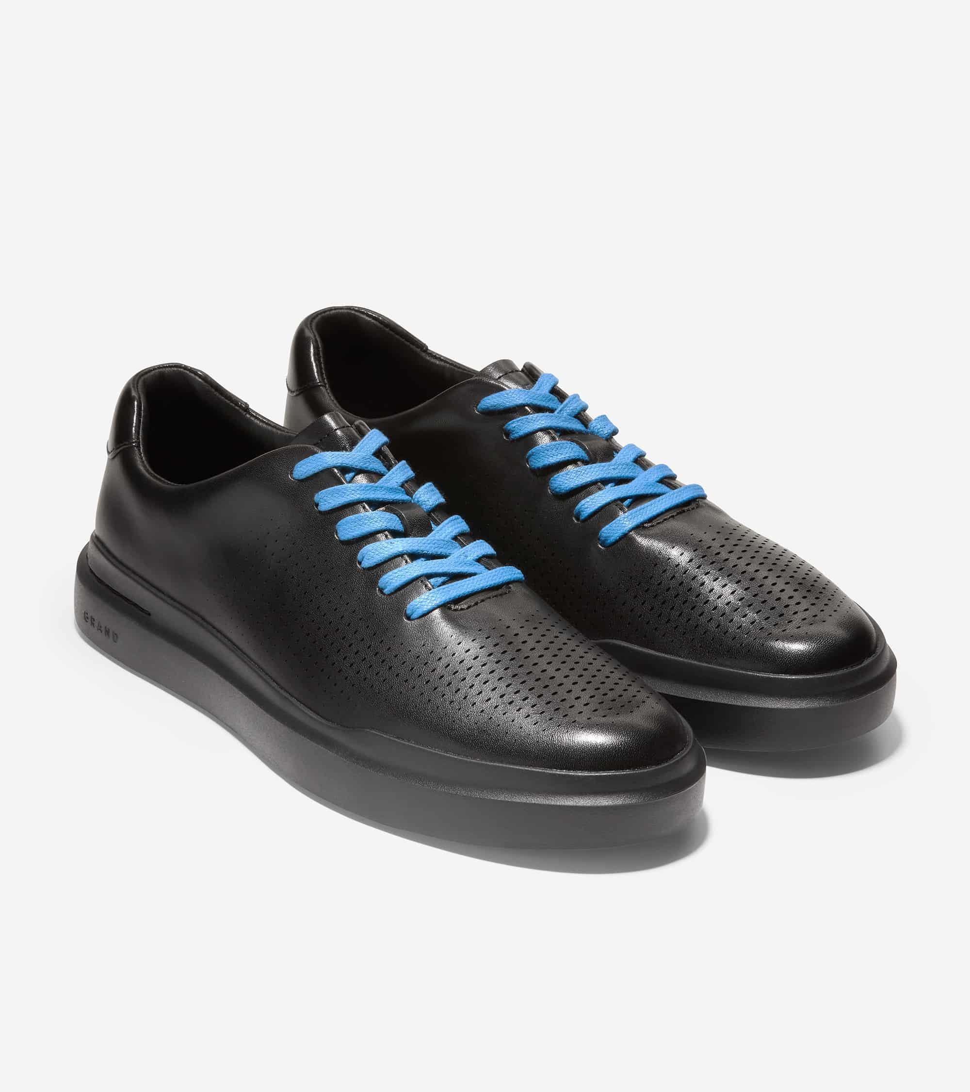 Cole Haan GrandPrø Rally Laser Cut Sneaker Black Leather /Bl