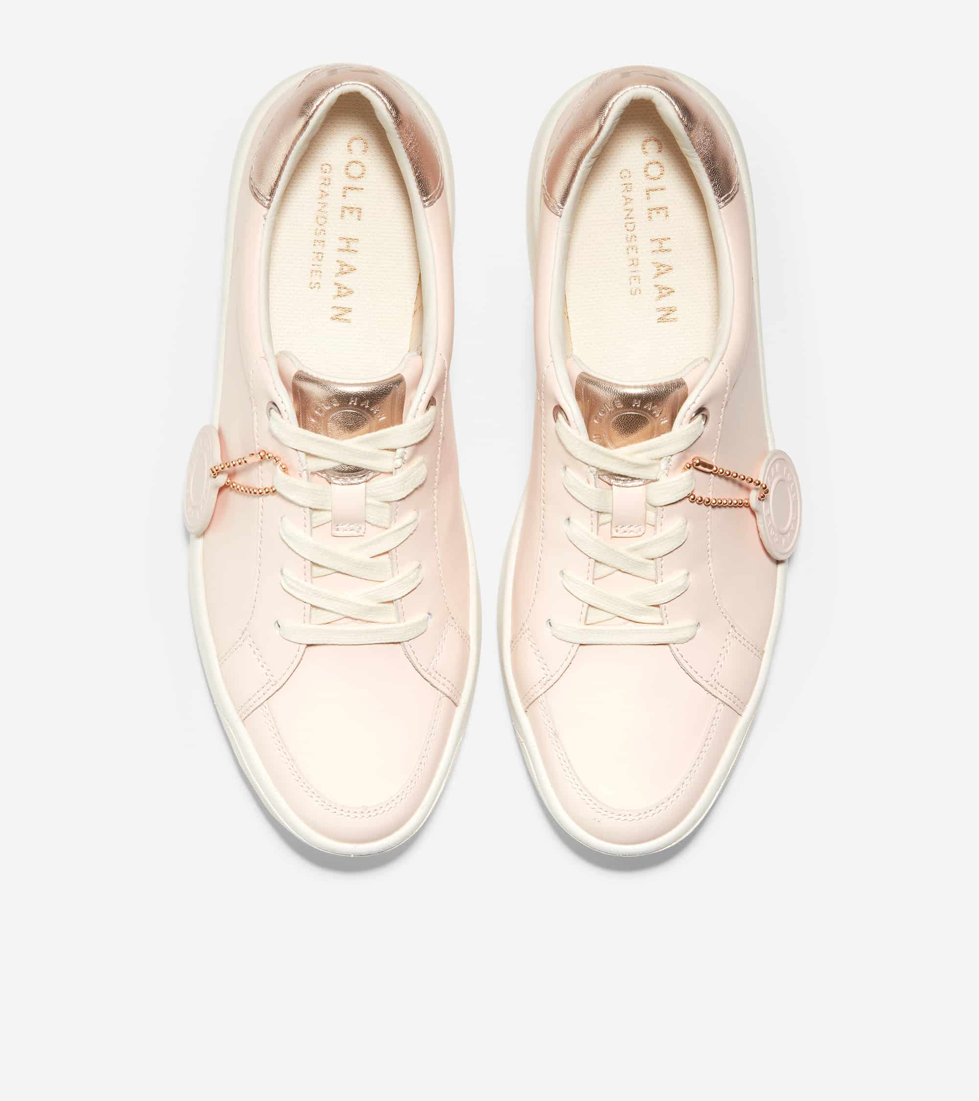 Cole Haan Grandprø Finalist Sneaker Clay Pink Eco Rebound Leather/ Rosegold Soft Talca Leather/ White Cap Gray