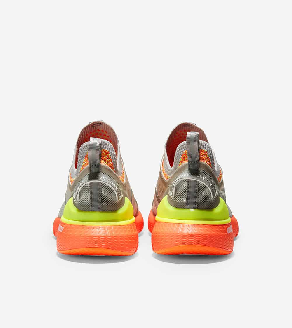 Cole Haan ZERØGRAND Overtake Runner Morning Fog/Ironstone/Safety Yellow/Shocking Orange