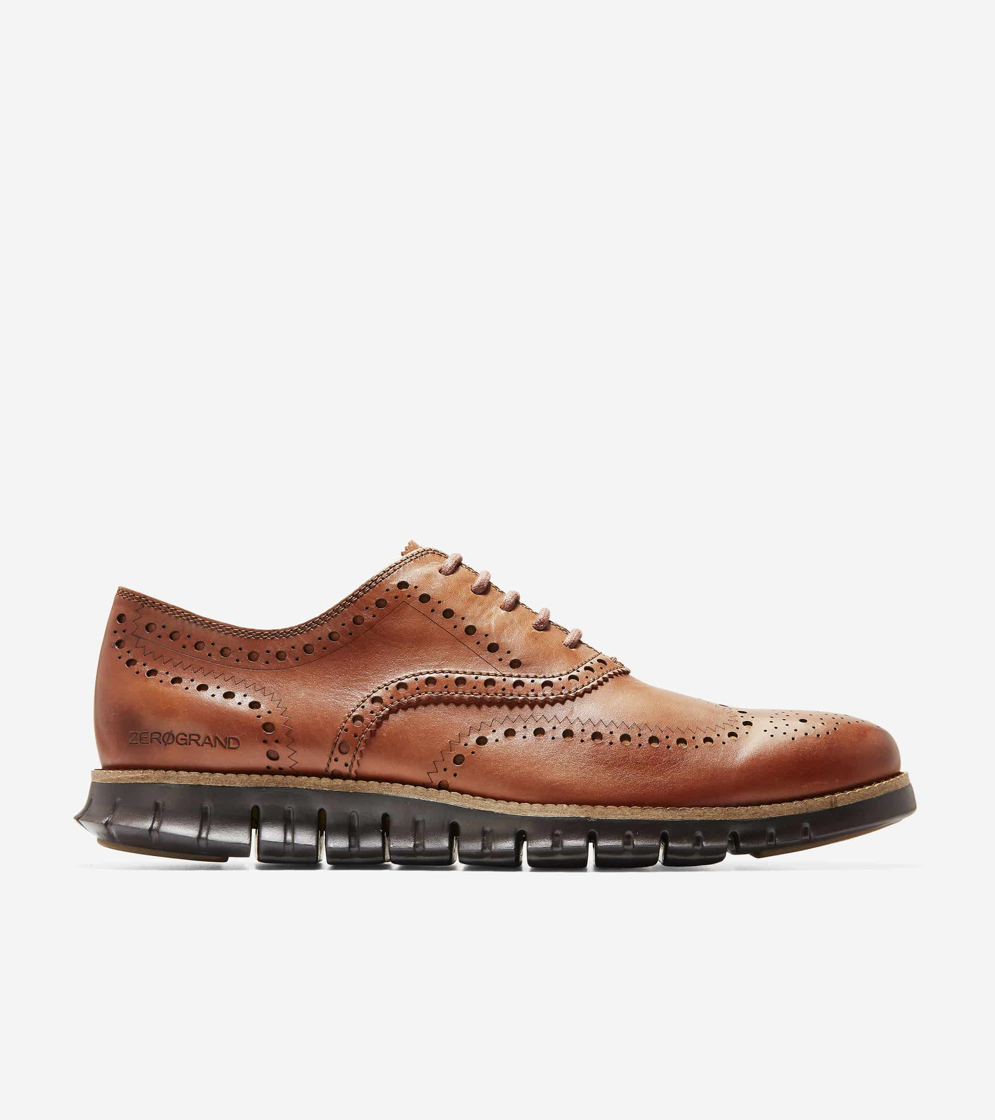 Cole Haan ZERØGRAND Wingtip Oxford British Tan Leather/Java
