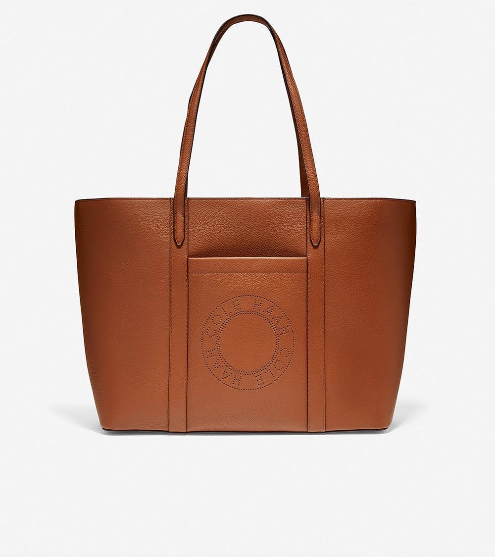 Cole Haan Handbag Zip Top Tote Britisch Tan
