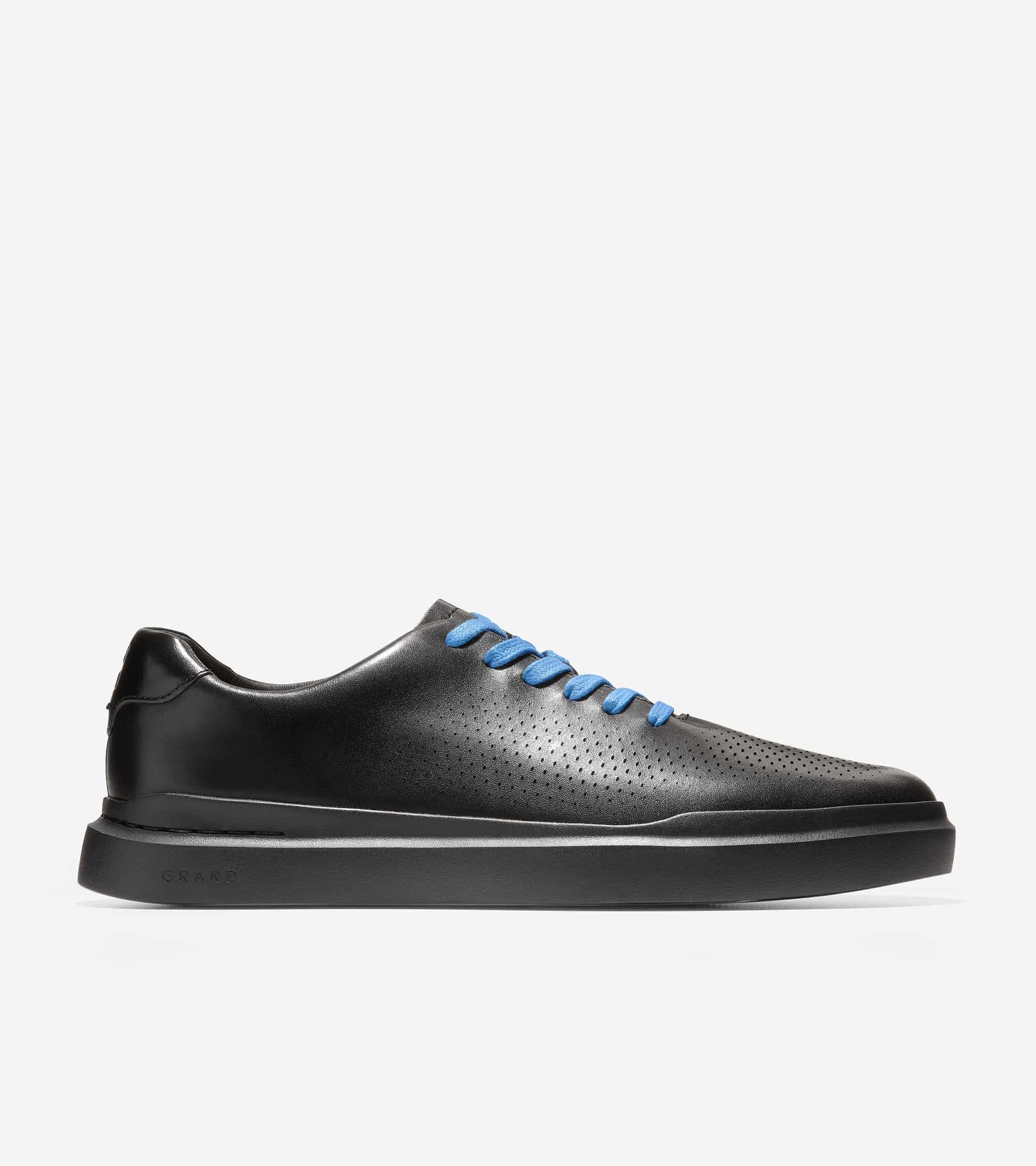 Cole Haan GrandPrø Rally Laser Cut Sneaker Black Leather /Black