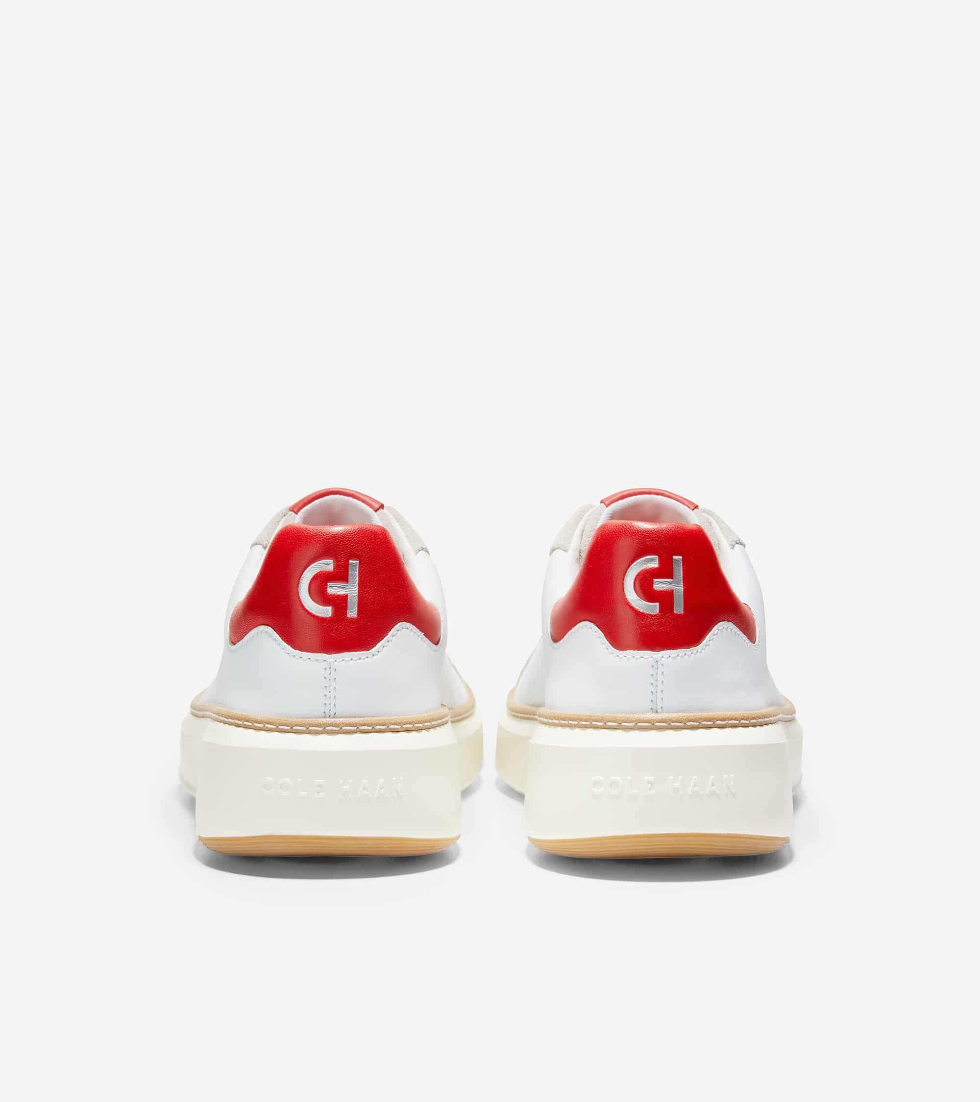 Cole Haan Grandprø Topspin Sneaker Optic White/Molten Lava