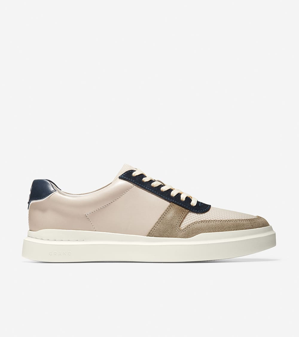 GRANDPRO RALLY COURT SNEAKER SILVER LINING/CH SOFT SAGE/NAVY INK