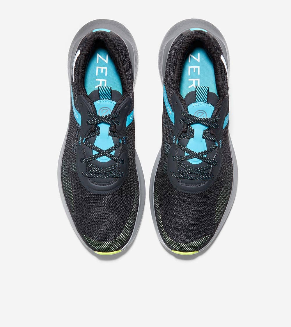 ZEROGRAND OUTPACE RUNNER II BLACK/CYAN BLUE/LIME GREEN/TITANIUM WITH SPECKLE