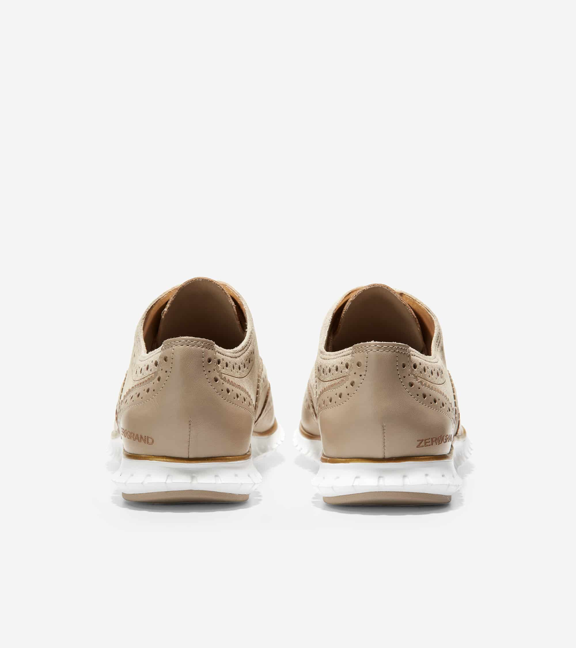 Cole Haan ZERØGRAND Wing Ox Closed Hole Ii Rye Suede / Leather / Ch Gold / Optic White Midsole / Rye Rubber Pods