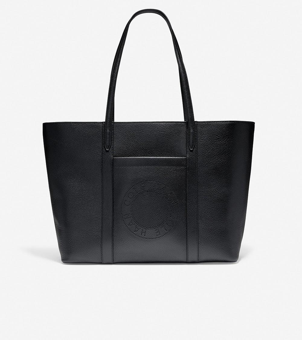 Cole Haan Handbag Zip Top Tote Black