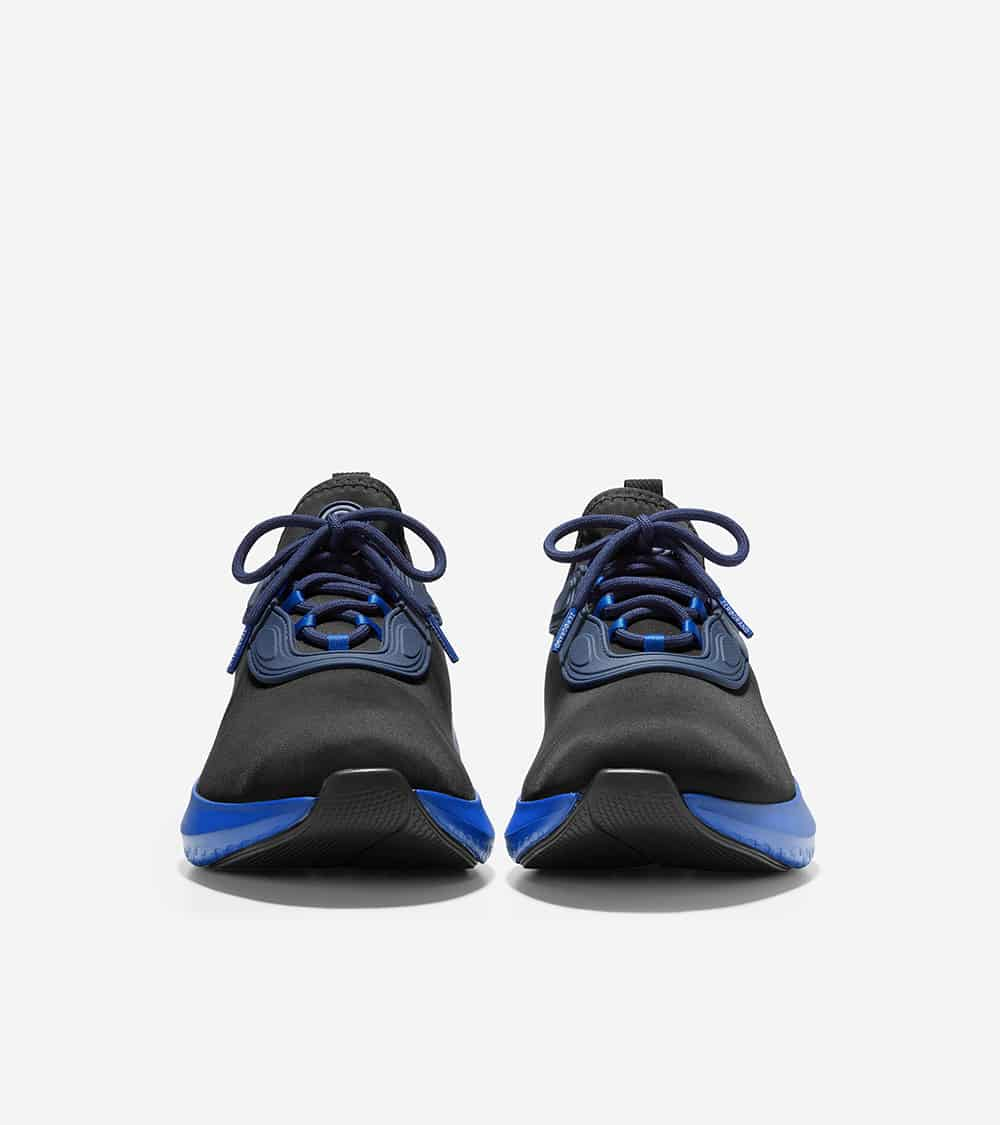 Cole Haan ZERØGRAND Changepace Sneaker Lace Up Black-Marine Blue