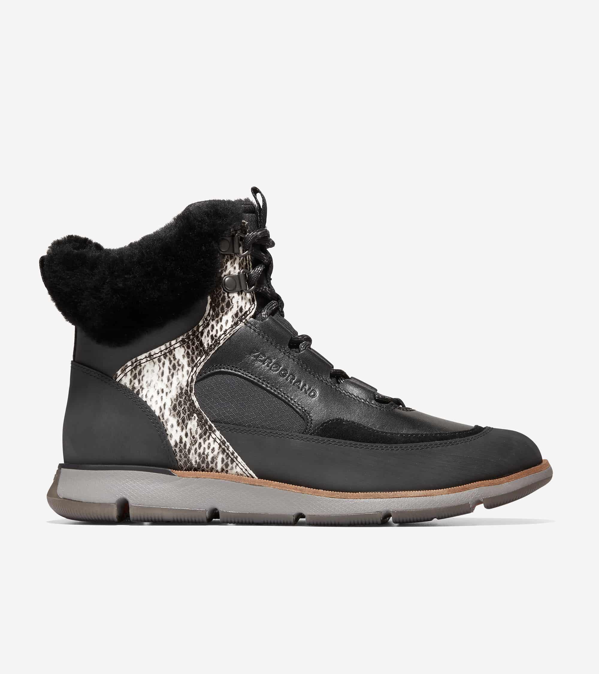 Cole Haan 4.ZERØGRAND Hiker Boot Black-Snake Print