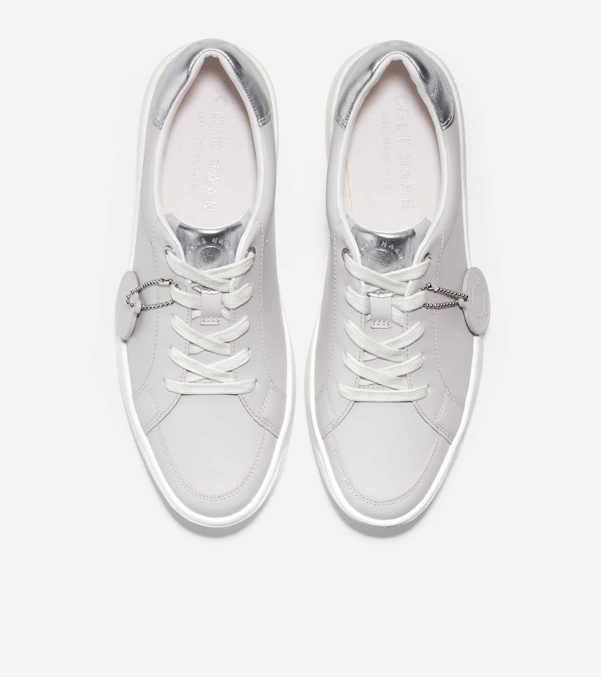 Cole Haan Grandprø Finalist Sneaker Microchip Eco Rebound Leather/ Silver Soft Talca/ White