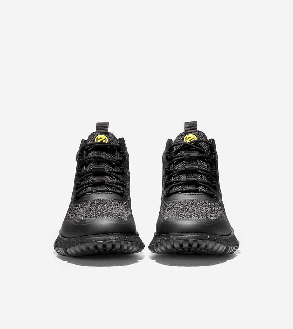 Cole Haan 4.ZERØGRAND Stitchlite Boot Caviar/Magnet Knit/Cyber Yellow Wr