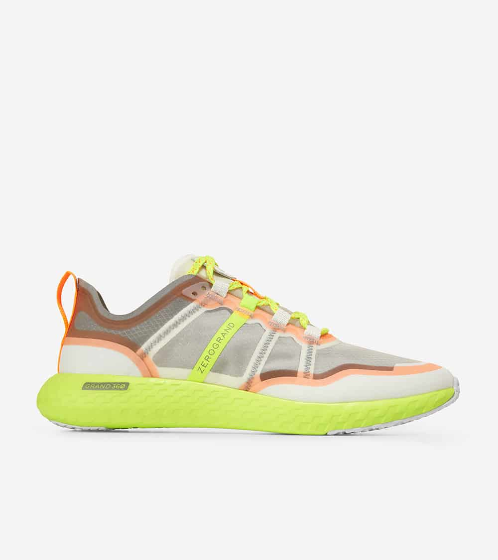 Cole Haan ZERØGRAND Outpace Runner Morning Fog/Ironstone/Shocking Orange/Safety Yellow