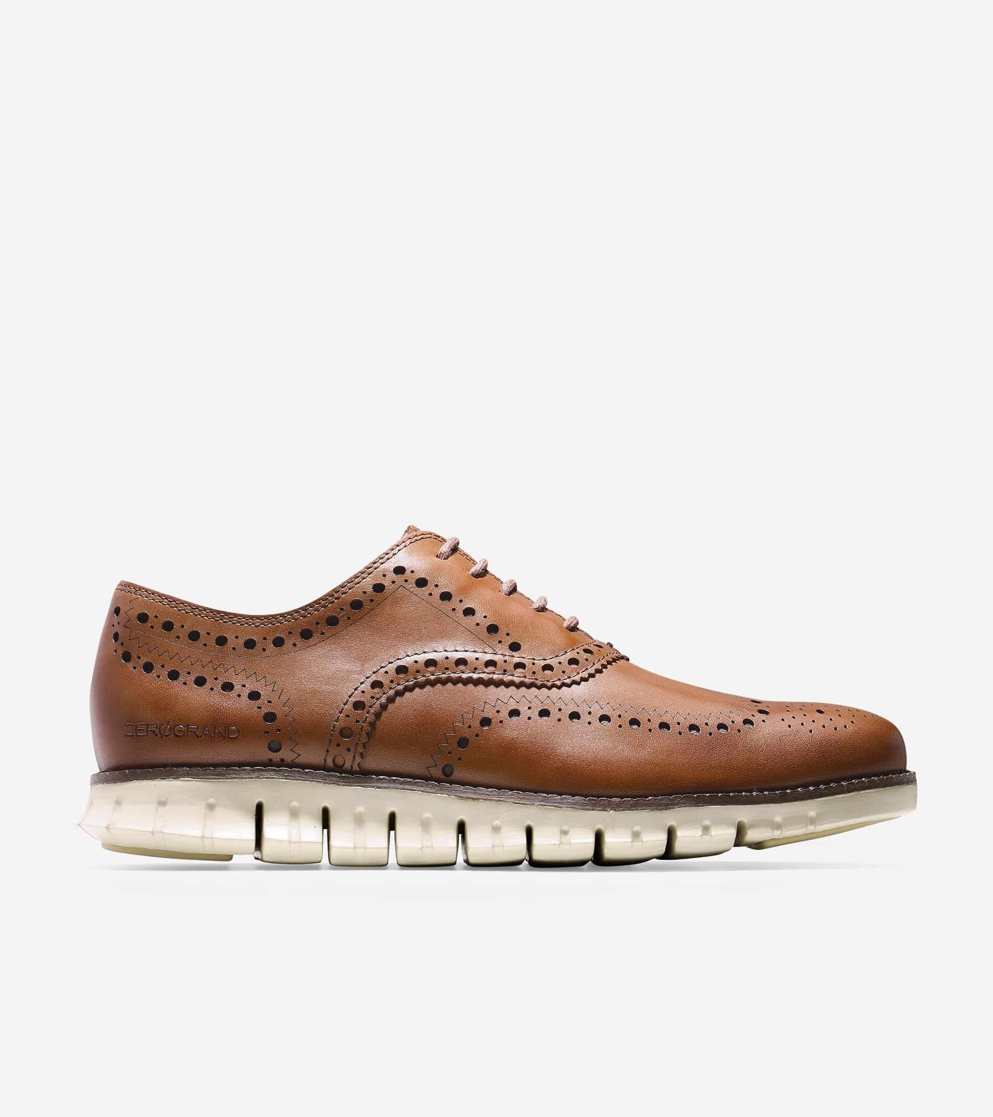 Cole Haan ZERØGRAND Wing Ox British Tan Closed Holes