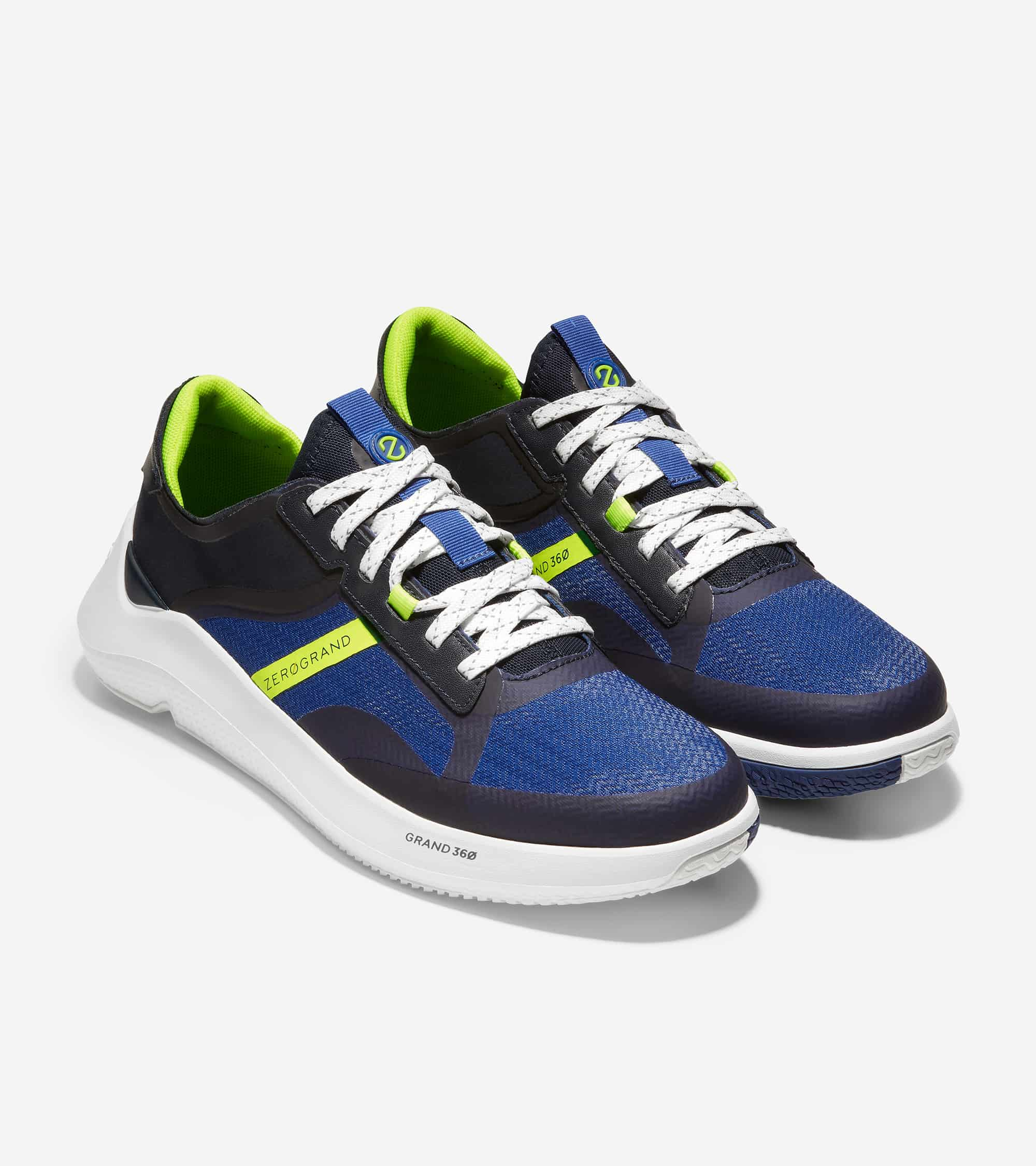 Cole Haan ZERØGRAND Winner Tennis Sneaker Navy Ink/Pacific Blue/Safety Yellow/Optic White